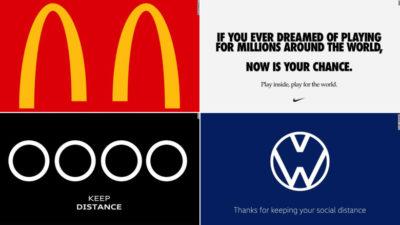 Social distancing logos